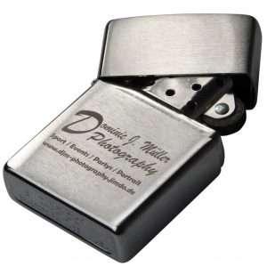 Metall mit Lasergravur